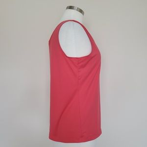 Chico's Tops - Chico's Size 2 Coral Pink Tank Top Shell Large